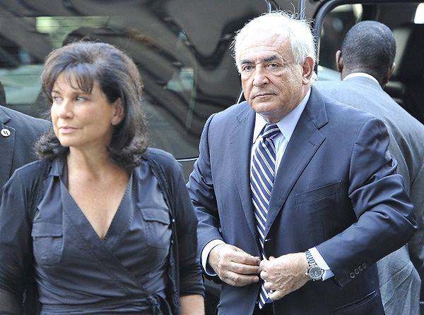 Dominique Strauss-Kahn z żoną Anne Sinclair