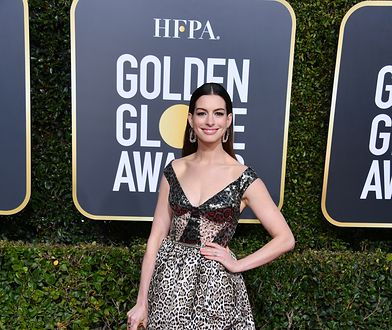 Anne Hathaway na Złotych Globach 2019