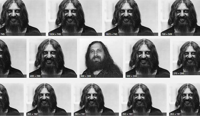 Która z tych twarzy jest prawdziwą Stallmana?