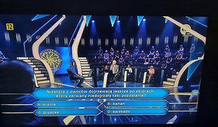 """""""Milionerzy"""". Padło pytanie za milion złotych. Chodziło o popularne owoce"""