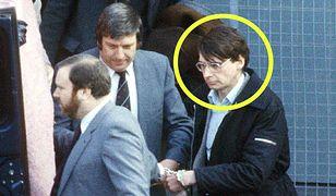 Dennis Nilsen w drodze na rozprawę sądową, luty 1983 r.
