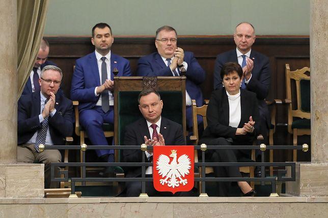 Koronawirus w Polsce. Prezydent Andrzej Duda w Sejmie.