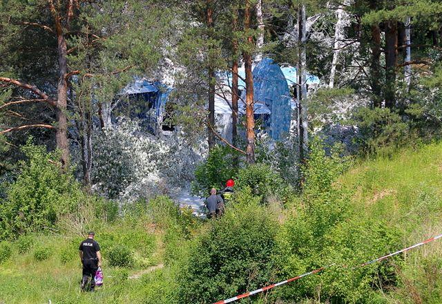 Samolot rozbił się w Olsztynie - zdjęcia
