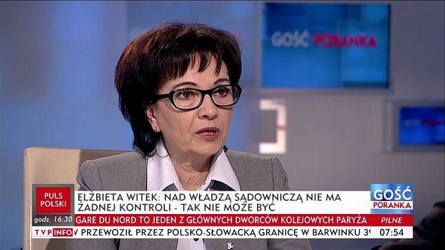 Elżbieta Witek w TVP INFO