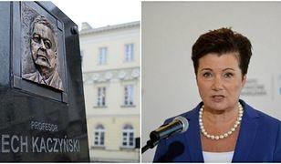 """Uroczystości na pl. Bankowym: nie zaproszono Hanny Gronkiewicz-Waltz. """"Widzi z okna, mogłaby przyjść"""""""