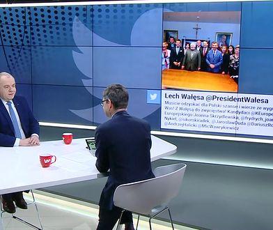 """""""Komedia"""". Sasin komentuje zdjęcie Wałęsy"""