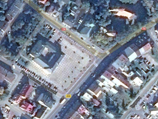 Szczebrzeszyn na zdjęciu satelitarnym Google