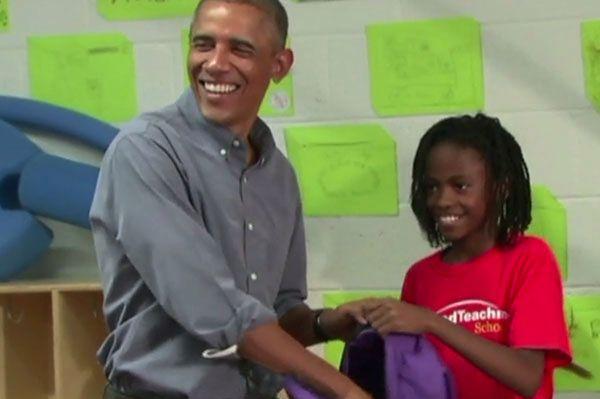Rozbrajająca reakcja dziewczynki na widok Baracka Obamy