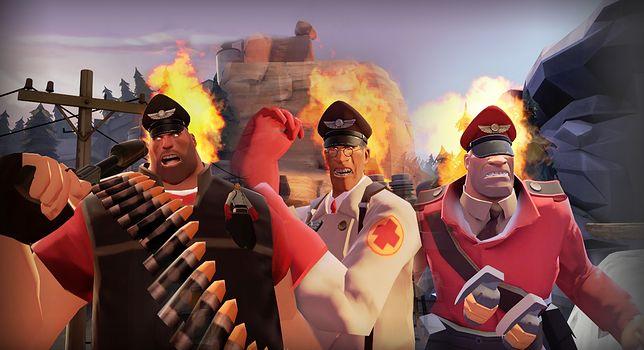 Team Fortress 2 i płonące czapki