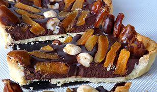Mazurek czekoladowy z bakaliami i mazurek karmelowy