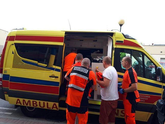 Trzylatek został przewieziony do szpitala