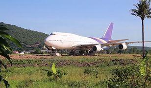 Samolot na środku pola. Mieszkańcy tajskiej wioski przecierali oczy ze zdumienia
