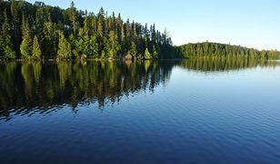 """Jezioro Płaskie. Martyna Wojciechowska zachwycona: """"Czy wam też ten widok kojarzy się z egzotycznymi wyspami?"""""""