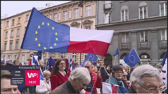 """Marsz """"Kocham Cię Europo"""" w Warszawie"""