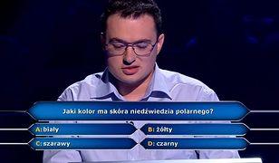 Pytanie zaskoczyło uczestnika