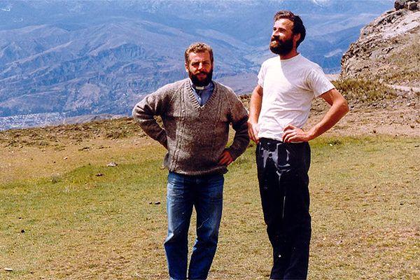 O. Zbigniew Strzałkowski (z lewej) i o. Michał Tomaszek