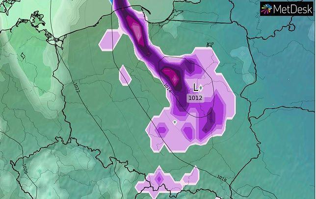 Pogoda na weekend. Za śnieżycami do Polski wkroczy arktyczny mróz (Źródło: WXCHARTS)