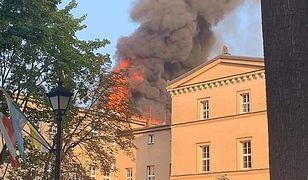 Lubliniec. Pożar w szkole. Na miejscu pracują służby (Fot:. Lubliniec998)