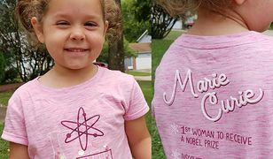 Mała dziewczynka założyła koszulkę ze... Skłodowską. Internauci zachwyceni!