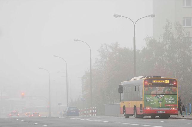 Smog w Warszawie 19 grudnia 2019 r.