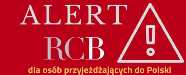 Alert RCB dla osób przyjeżdżających do Polski