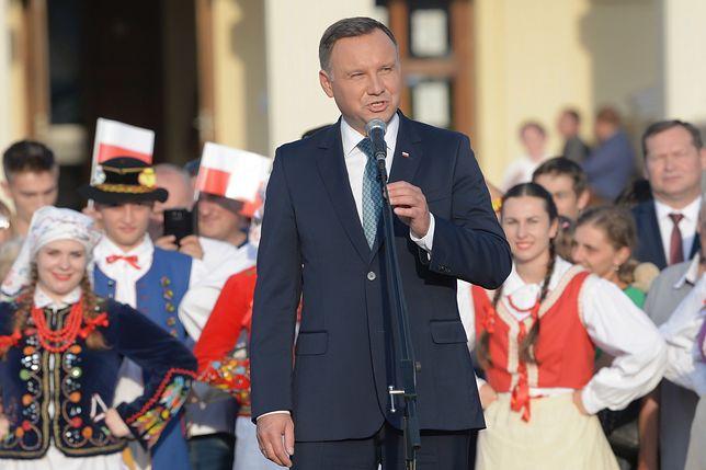 Prezydent Andrzej Duda na spotkaniu z mieszkańcami Leżajska