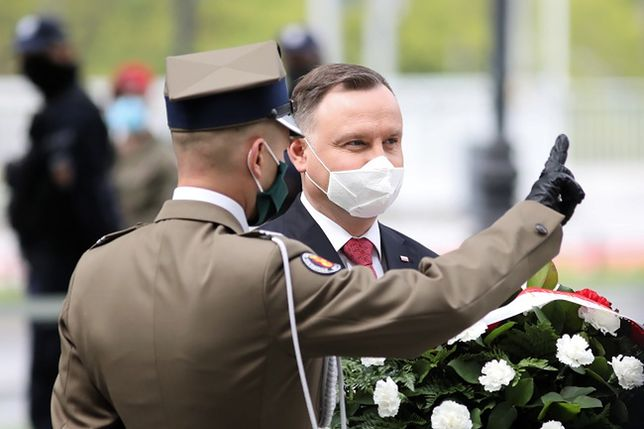 Warszawa. Prezydent Andrzej Duda złożył kwiaty pod pomnikiem Wojciecha Korfantego