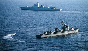 Ćwiczenia chińskiej marynarki wojennej na Morzu Południowochińskim