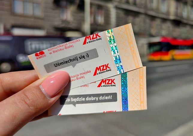 Śląskie. Bilety z pozytywnym przesłaniem mogą kupić pasażerowie autobusów MZK w Bielsku-Białej.
