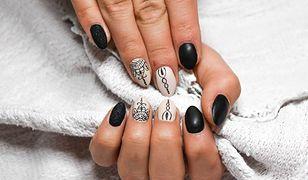Paznokcie z wzorami to ciekawe urozmaicenie dla klasycznie lakierowanych paznokci