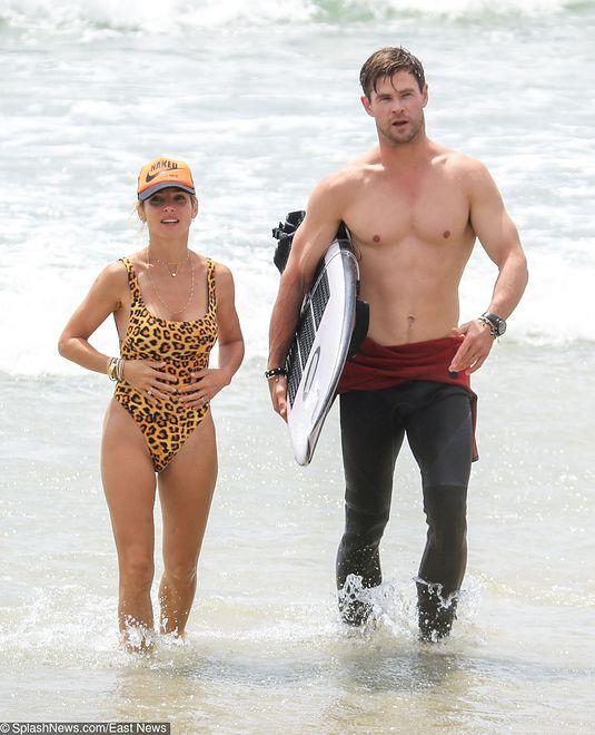 Chris Hemsworth z żoną