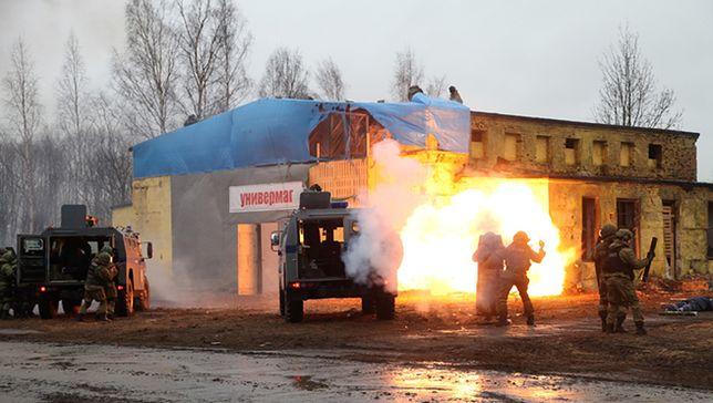 """Siły MSW Rosji ćwiczyły rozpędzanie """"Majdanu"""""""