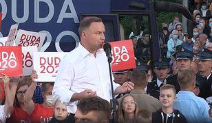 Wybory 2020. Prezydent Andrzej Duda w Łomży: zdrajcy pozostaną zdrajcami (Relacja na żywo - 7 lipca)