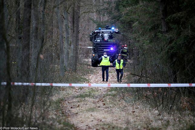 MiG-29 spadł na las w powiecie węgrowskim