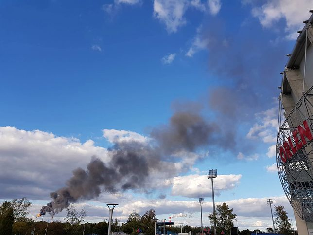 Dym zaniepokoił mieszkańców miasta i okolic