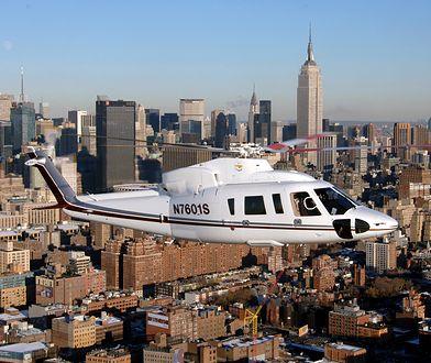 S-76 nad Nowym Jorkiem. Zdjęcie poglądowe