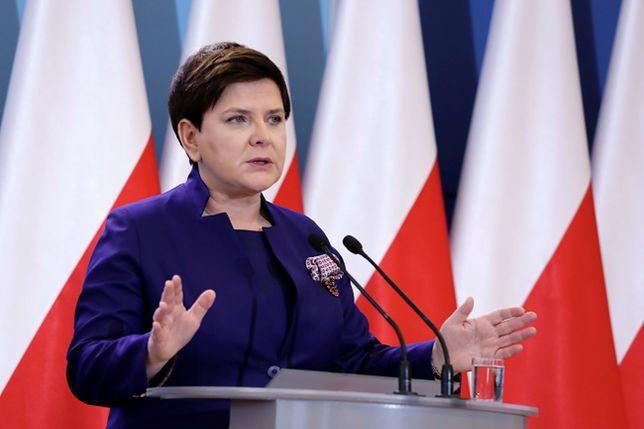 Wicepremier Beata Szydło podczas konferencji