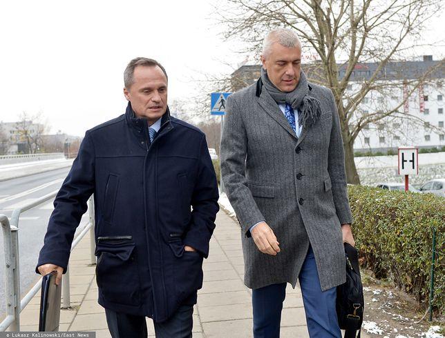 Leszek Czarnecki oraz Roman Giertych w drodze do sądu (zdj. arch.)