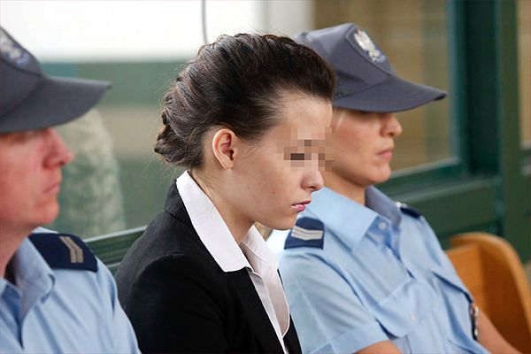 Katarzyna W. na sali sądowej