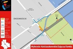 Zmiany w ruchu drogowym przy Moście Świętokrzyskim!