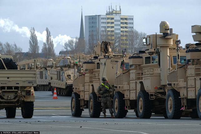 """Amerykańscy żołnierze dotarli do Niemiec i stąd ruszyli w kierunku Polski w ramach manewrów """"Defender-Europe 2020"""""""