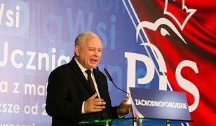 16 września 2018 r. Prezes PiS Jarosław Kaczyński przemawia w auli Uniwersytetu Szczecińskiego.