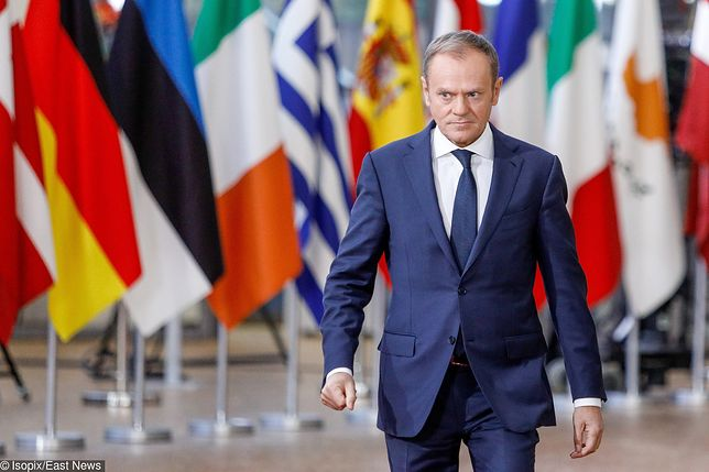 Brussels , 14/12/2017 European Council, 14 and 15 December 2017. Arrivals Pix : TUSK, Donald Credit : Pablo Garrigos / Isopix