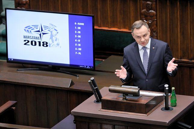 Andrzej Duda mówił w Sejmie m.in. o Rosji