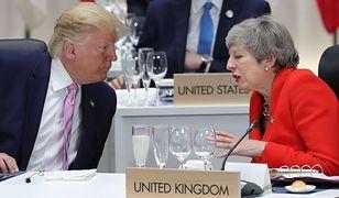 Donald Trump i Theresa May podczas szczytu G20 w Osace (Japonia)