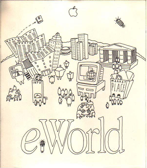 Jeden z pierwszych szkiców eWorld.