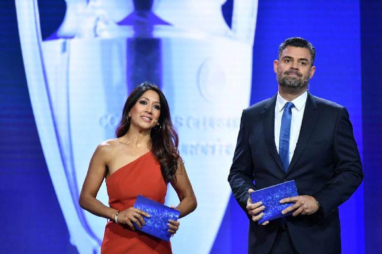 Kompromitująca wpadka prowadzącej na gali UEFA. Pouczał ją piłkarz Bayernu Monachium