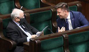 Minister Michał Dworczyk - to on odpowiada za realizację Narodowego Programu Szczepień. Na zdjęciu z prezesem PiS Jarosławem Kaczyńskim
