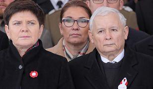 Beata Szydło, Beata mazurek i Jarosław Kaczyński. Prezes PiS zaakceptował listy PiS do PE, na których znalazła się b. premier i wicemarszałek Sejmu.