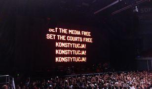 Polityczny manifest podczas koncertu Rogera Watersa w Gdańsku w sierpniu 2018 r.